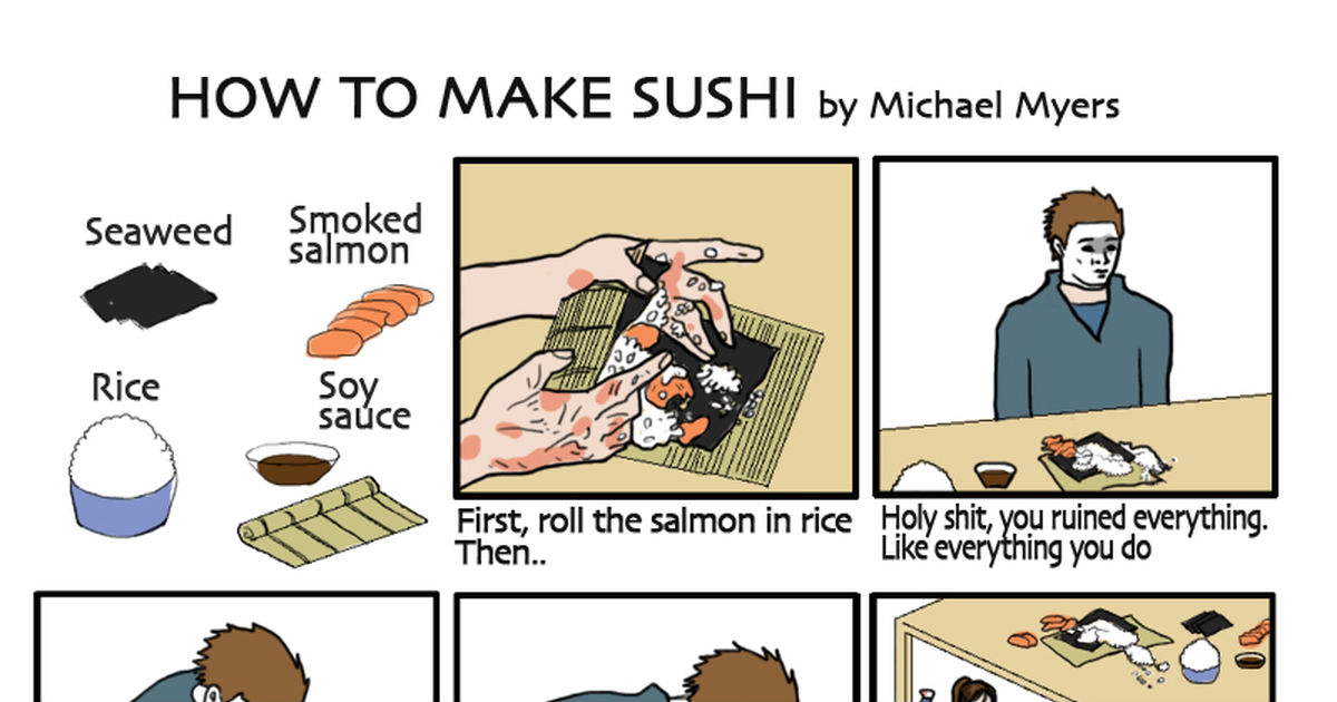 how to make sushi A simple, no fuss way to make sushi at home without a mat 30 minutes from start  to finish yum.