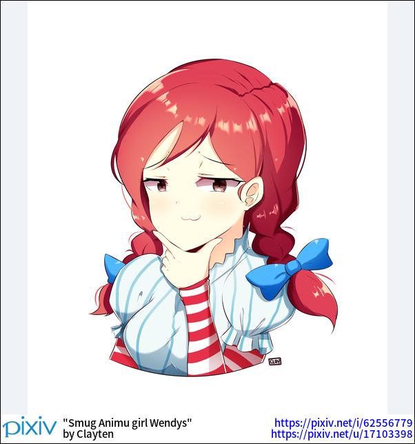 Smug Animu girl Wendys