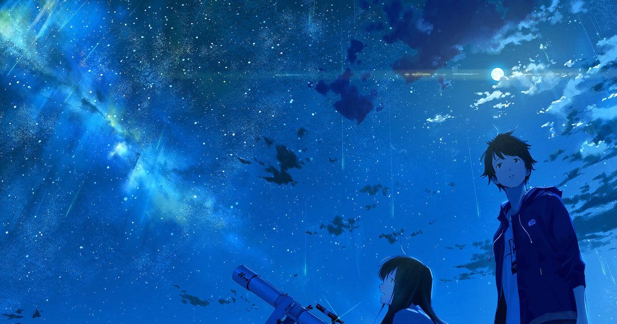 君は月夜に光り輝く Photo: 【オリジナル】「夢は月夜に一人瞬く」イラスト/loundraw [pixiv]