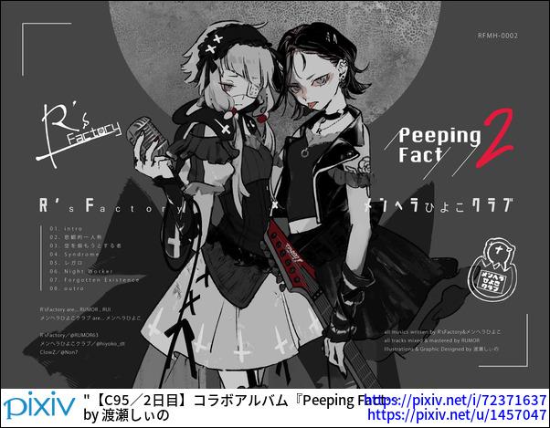 【C95/2日目】コラボアルバム『Peeping Fact 2』