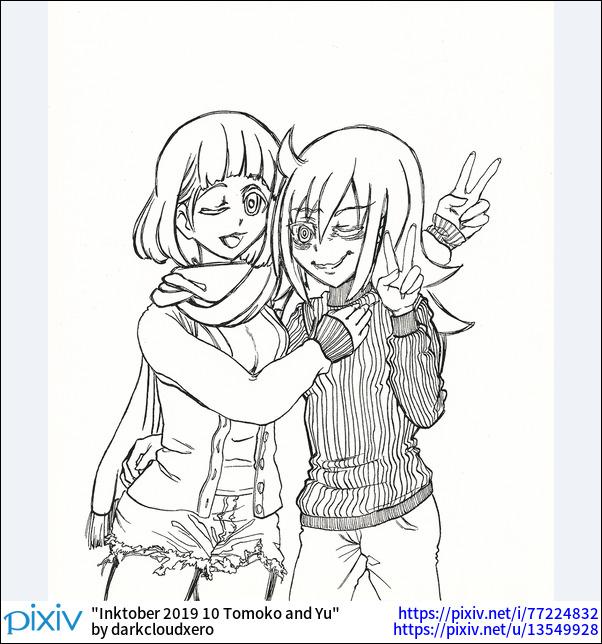 Inktober 2019 10 Tomoko and Yu