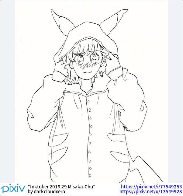 Inktober 2019 29 Misaka-Chu