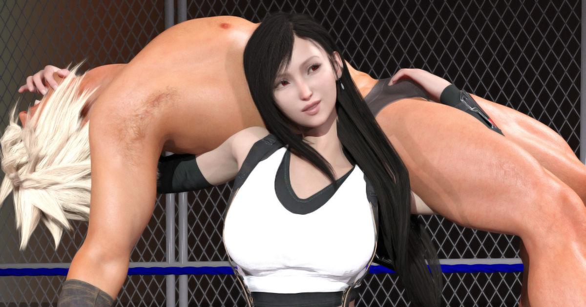 FEMDOM, mixed wrestling, reverse_ryona / Tifa Remake - pixiv