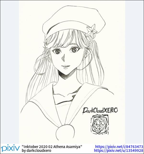 Inktober 2020 02 Athena Asamiya