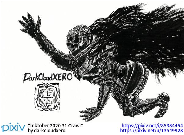 Inktober 2020 31 Crawl