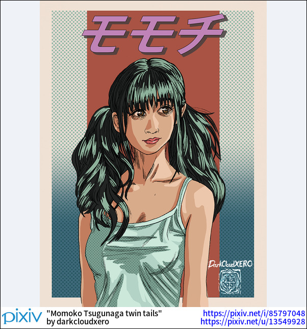 Momoko Tsugunaga twin tails