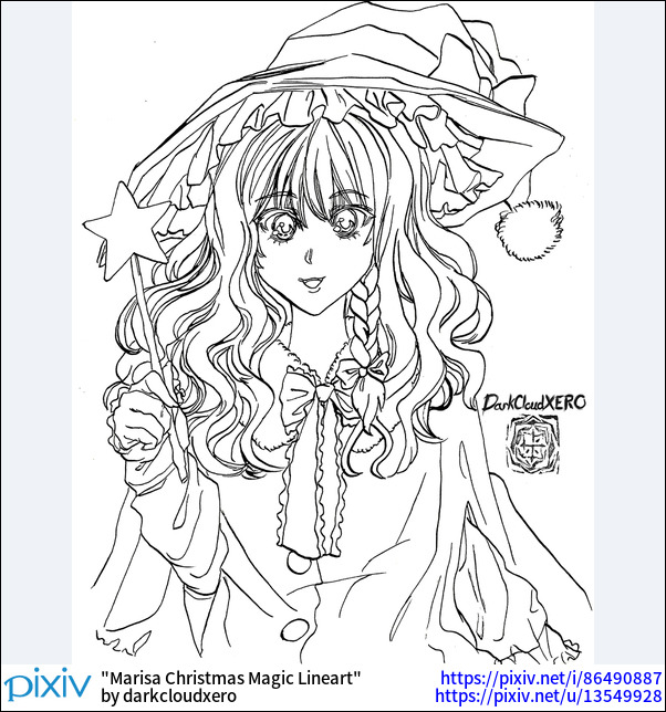 Marisa Christmas Magic Lineart