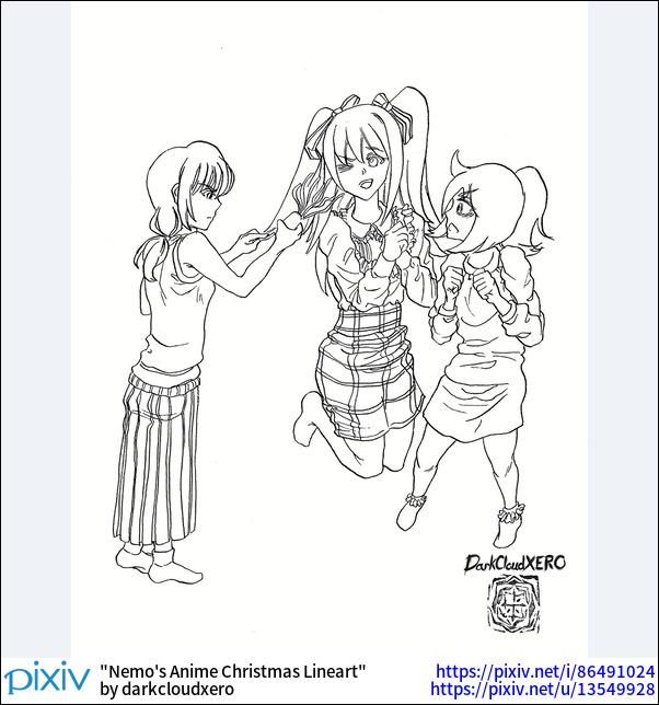 Nemo's Anime Christmas Lineart