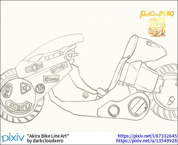 Akira Bike Line Art